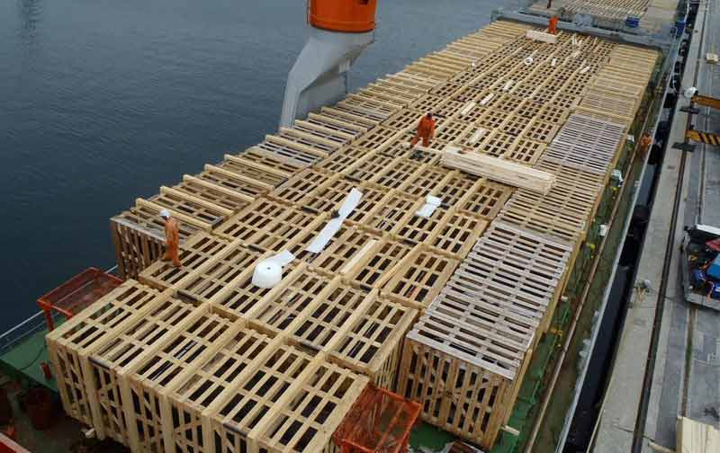 Sondaggio pre-imbarco nave da carico